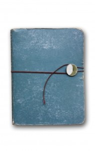 worn blue journal