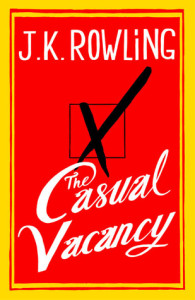 hardcover design for novel The Casual Vacancy