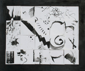 fine art abstract drawing black and white