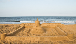 The glories of a sand castle lie in its walls... and moat system. CC image Sandcastle Competition courtesy of Victoria Pickering on Flickr. Some rights reserved.